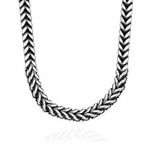 Franco Foxtail Men's Chain 6mm Stainless Steel Necklace or Bracelet Gold Plate