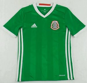 Authentic Adidas 2015 Mexico National Team Soccer Jersey Size Youth Small S