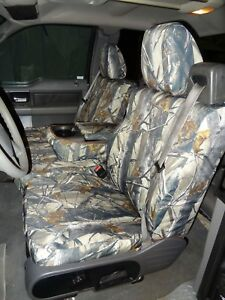 2004-2008 Ford Truck F150 XLT Super Cab, Front Exact Seat Covers, in Camo Twill