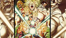 Poster 42x24 cm Dragon Ball Z Gohan Trunks Goten Goku Broly Super Saiyans 01