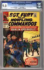 Sgt. Fury Howling Commandos 35 CGC 9.0 OWW Suscha News Pedigree