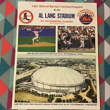 1987 spring training program Cardinals vs Mets 1986 World Series Champs complete