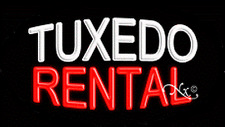 """NEW """"TUXEDO RENTAL"""" 30x17 OVAL SOLID/FLASH REAL NEON SIGN w/CUSTOM OPTIONS 14312"""
