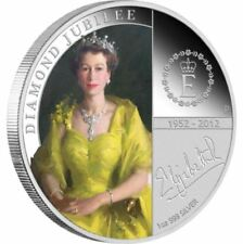 2012 QUEEN ELIZABETH 11 DIAMOND JUBILEE Silver 1oz Proof Coin