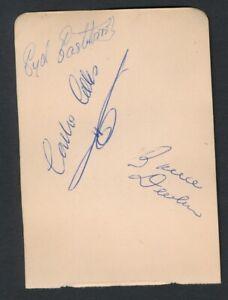 1931 Vintage Golf Autograph Sheet JEWELL/EASTBROOK/DEVLIN +