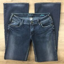 Silver Jeans Womens Jeans Aiko Boot Cut Stretch Size 29/33 Actual W30 (AY10)