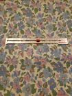 """VINTAGE PRINTED FEED SACK FOR QUILTING/CRAFT floral 37 x 19""""   used hemmed"""