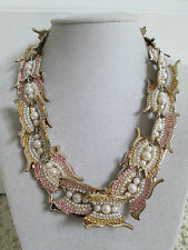 NWT Auth Givenchy Swarovski Crystal Butterfly Collar Statement Necklace $495