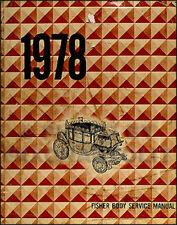 1978 Chevy Body Shop Manual Cars and El Camino Fisher Repair Service Book OEM
