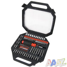 101pc Assorted Screwdriver Bit Set Tool Kit Ratchet Driver Strong Carry Case