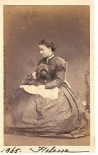 RARE SIGNED CDV PRINCESS HELENA SCHLESWIG HOLSTEIN QUEEN VICTORIA 1865