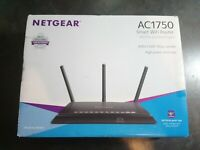 NETGEAR AC1750 Smart WiFi Router R6400 Dual Band Tested Working 3 Antenna