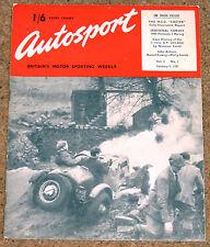 Autosport 5/1/51 Vol 2 No1 - 1950 FORMULA 2 REVIEW, HISTORY of the GP DELAGE