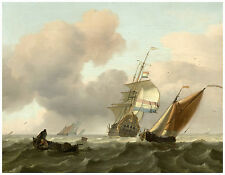 "Maritime ""Rough Sea with Ships"" Ludolf Bakhuysen ca. 1697"