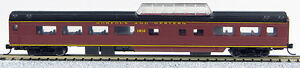 """N Smooth Side Mid-Train Dome """"Norfolk & Western"""" (Tuscan Red) (1-40222)"""