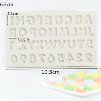 DIY Alphabet Letter Number Silicone Mould Biscuit Cutter Fondant Cake Mold