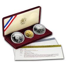1983 & 1984 3-Coin Commem Olympic Proof Set (w/Box & COA) - SKU #7169