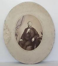 GUSTAVE PHOTOGRAPHE AU MANS PHOTO PORTRAIT D'HOMME CIRCA 1858/1870