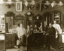 Vintage Barbers Antique Barbershop Mustaches Antlers Gibson Girls Mirrors 1890