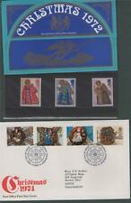 Christmans 1972  presentation pack + FDC 1974  1973 j.55