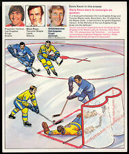 1971 72 HOCKEY ACTION REPLAY TRANSFERS #1 ROGATIEN VACHON DAVE KEON MAPLE LEAFS