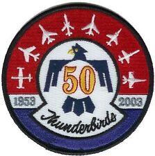 USAF PATCH THUNDERBIRDS DISPLAY TEAM 50TH ANNIVERSARY iron-on PATCH 2003 vantage