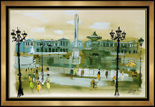 Charles Levier Original Acrylic PAINTING Authentic Large Signed Paris Street Art