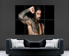 Wwe roman reigns poster wrestling mur tatoo art photo imprimé grand énorme