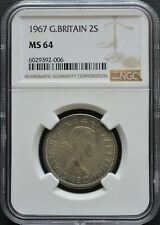 More details for 1967 gb coin ~ elizabeth ii ~ 2 shillings  florin ~ ngc ms 64