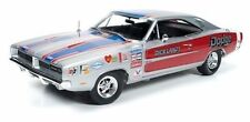 AUTOWORLD 1969 DODGE CHARGER R/T NHRA DICK LANDY 1/18 DIECAST SILVER AW228