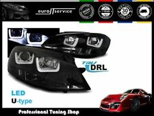 FARI ANTERIORI HEADLIGHTS LPVWK6 VW GOLF VII 2012 2013 2014 2015- U-TYPE NERO