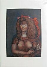 """Ernst Fuchs  1979 Perseus -""""Lolita"""" Siebdruck nummeriert & handsigniert"""