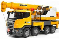 NEW BRUDER SCANIA LIEBHERR CRANE TRUCK WITH LIGHT AND SOUND MODULE R-SERIES TOYS