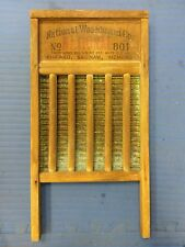 Vintage antique National Washboard Co The Brass King no 801