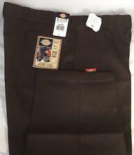 New Dickies Men Double Knee Work Pants 50x30 Multi Use Pocket Scotchgard Brown