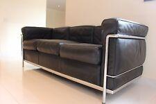 Iconic designer ORIGINAL CASSINA LC2 Le Corbusier vintage leather sofa RRP £8310