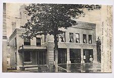 1907 CT Postcard Vintage Winsted Connecticut Borough Building Fire Department