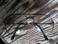 Vintage Marchon Marcolin Eyeglass FRAME Marcoflex Aviator Gold Tone Glasses  K