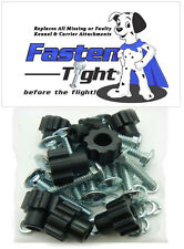 Pet Carrier / Kennel Replacement Nut Bolt Fasteners - Black-8pk