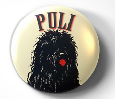Puli Dog - pin pinback button - Free Shipping