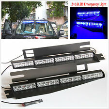 32led SUV Pickup Windshield Visor Emergency Flash Strobe Light Lamp w/ Bracket