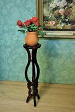 Dollhouse Miniature Bespaq Wood Tall Pedestal Plant Stand Pillar Elegant