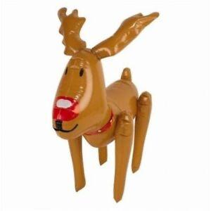 Inflatable Christmas Snowman Santa Reindeer Novelty Xmas Blow Up Decoration 50cm