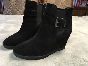 Vince Camuto Womens Suede Wedge Boot Size 9 New No Box