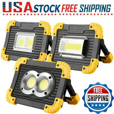 Ultra Bright 100000LM COB LED Work Light Rechargeable Emergency Flood Lamp Stand