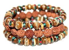 Tibetan prayer beads healing bracelet Adjustable wrist mala yoga bracelet E3