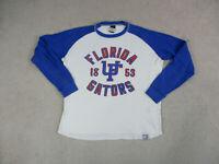 Nike Florida Gators Shirt Adult Extra Large White Blue Raglan UF Foootball Men *