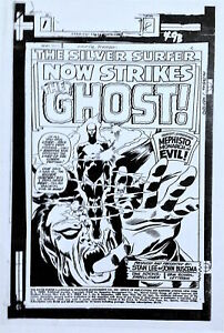 JOHN BUSCEMA SILVER SURFER 8 MEPHISTO & The GHOST 1960s MARVEL ART TRANSPARENCY