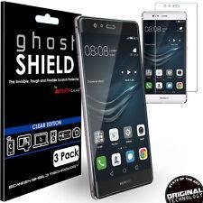 3x TECHGEAR Clear (tpu) Full Screen Protector Covers for Huawei P9 Plus