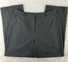 Jessica Holbrook grey trouser pants PLUS SIZE 18W elastic waist flat front (E)